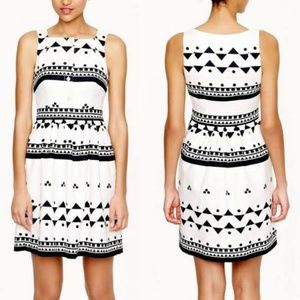 J. Crew Roller Girl dress black & white sz 6